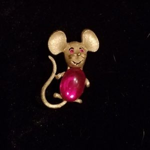 Park Lane Jelly Belly Mouse brooch